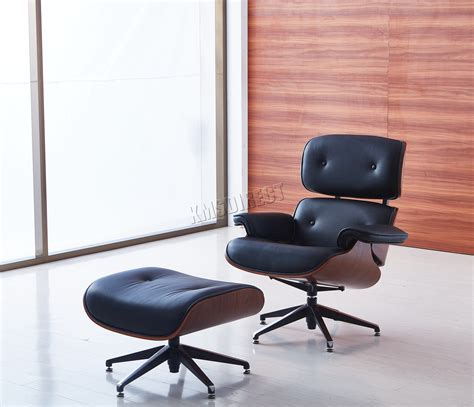 genuine leather chair and ottoman cosmetic damaged foxhunter luxury lounge chair and ottoman
