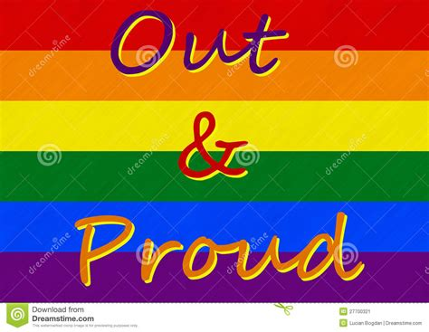 I Am Lgbt pride i am out and i am proud stock image image