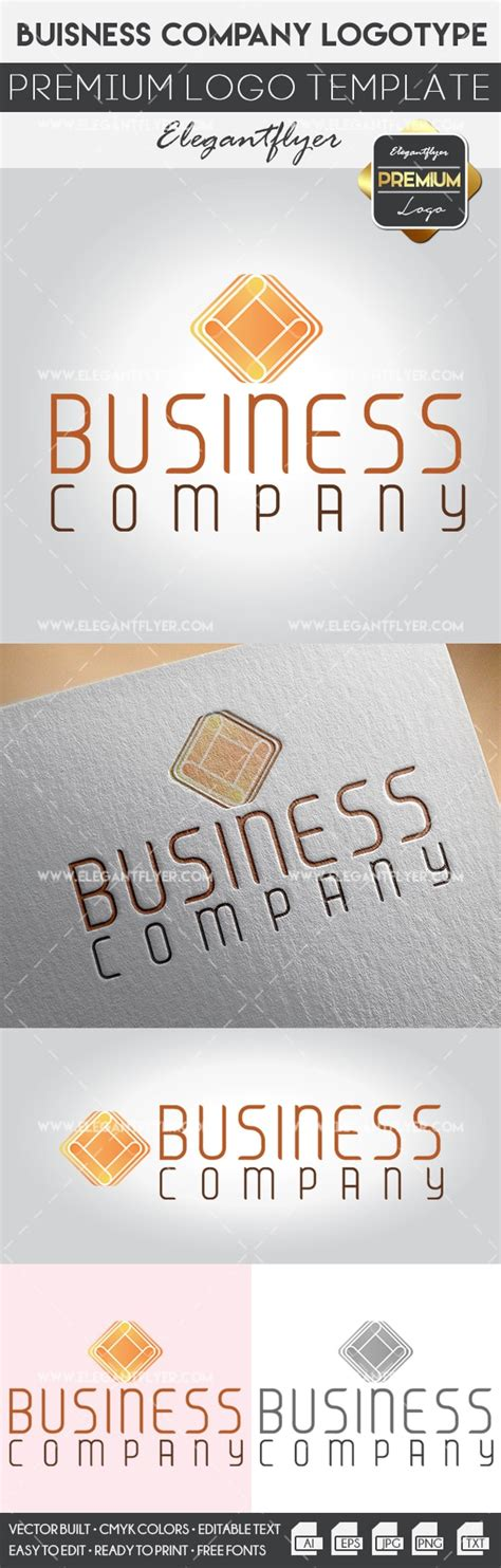Business Company Premium Logo Template By Elegantflyer Premium Logo Templates
