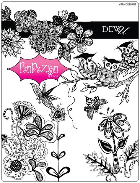 doodlebug dezigns new pen dezigns by donna www onestroke one stroke