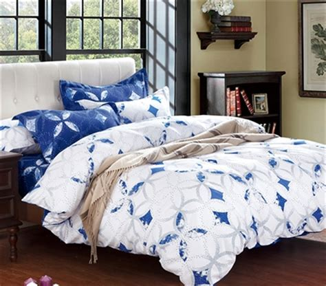 Blue And White Extra Long Twin College Dorm Comforter Twin White Xl Bedding