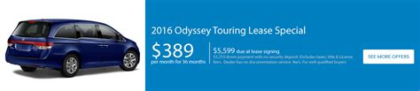 lease a honda odyssey touring odyssey lease special and offers honda of lincoln
