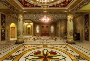 Palace Interior Artdeco Style Hotel Floor Walls Ceiling Amazing