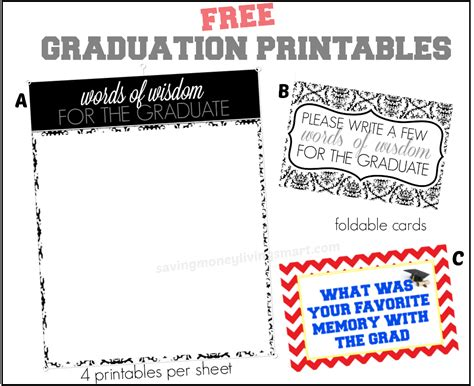 Graduation Words Of Wisdom Card Templates by Words Of Wisdom Free Graduation Printables More Saving