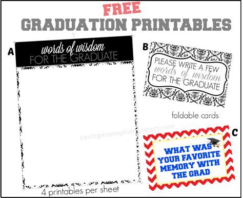graduation words of wisdom card templates words of wisdom free graduation printables more saving