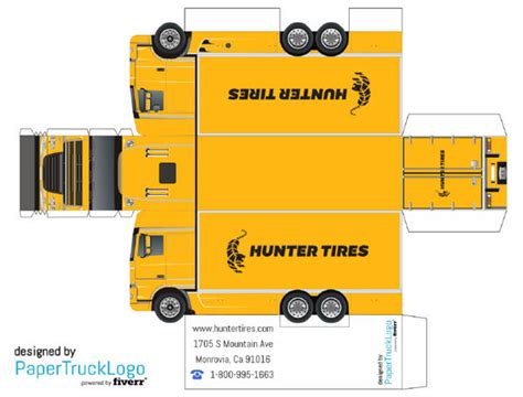Truck Papercraft - paper model semi truck will make a papercraft truck with