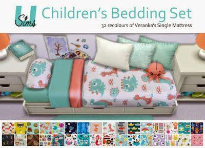 sims  blog childrens bedding set  unobservantsims sims  downloads pinterest sims