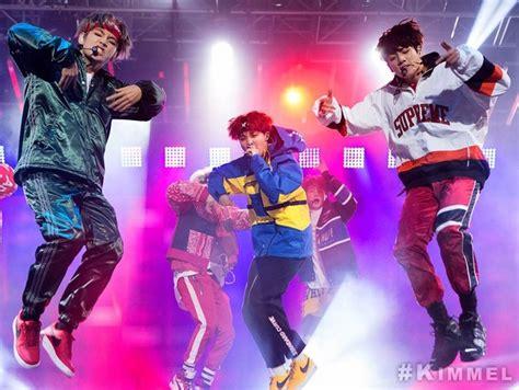 bts jimmy kimmel live bts perform mini concert on quot jimmy kimmel live quot watch the