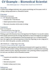 biomedical science cover letter biomedical scientist cv exle icover org uk