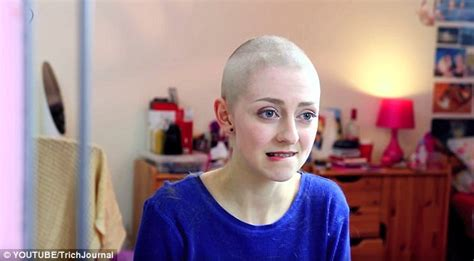 female headshave this month youtube s rebecca brown shaves her head to combat hair
