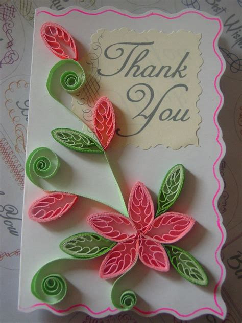Paper Craft Cards - quilling quilled flowers paper craft greeting cards