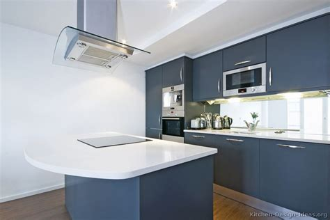 Blue Kitchen Cabinets Modern Blue Kitchen Cabinets Pictures Design Ideas