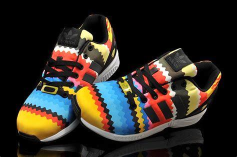 New Sepatu Running Zx Flux Multicolor new adidas zx flux rainbow colors running shoes australia
