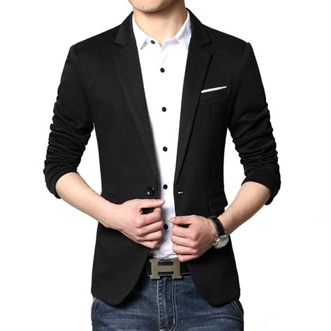 Korean Style Blazer Black New Korean Blazer מוצר 2017 new fashion casual blazer cotton slim