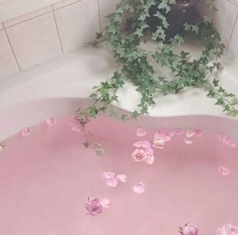 bath flowers green pink image 4580732 by winterkiss