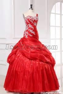 pretty dresses mermaid organza pretty quinceanera dress with one shoulder 1st dress