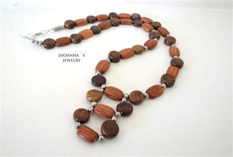 Handmade J - beautiful beaded brown handmade jewelry set with necklace
