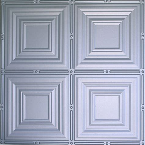 ceiling tiles home depot global specialty products dimensions 2 ft x 2 ft nickel lay in tin ceiling tile for t grid