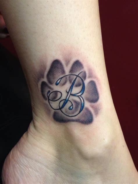 21 cool dog paw tattoos ideas