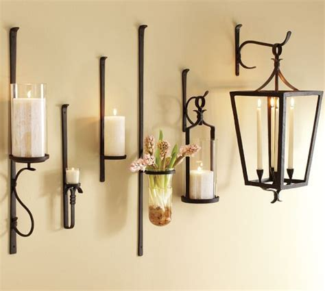 Candle Sconces Pottery Barn artisanal candle holders