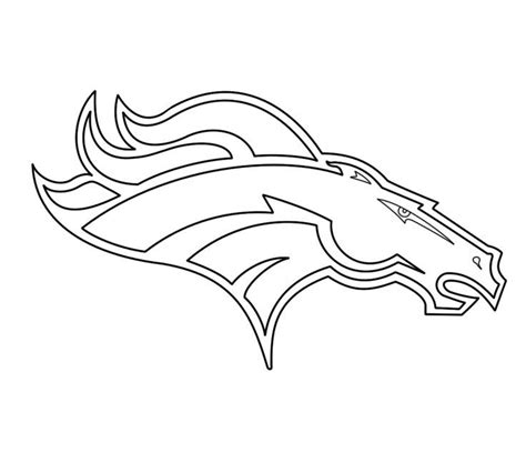 denver broncos coloring pages coloring home