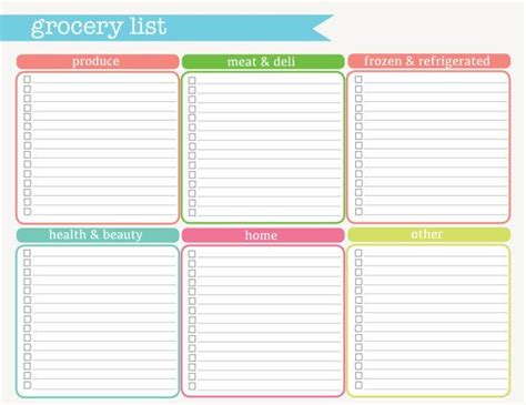 printable grocery list pinterest grocery list printable pdf instant download