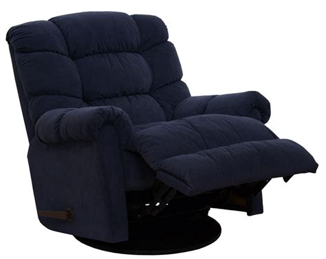 microfiber glider recliner sensation chaise swivel glider recliner in navy microfiber