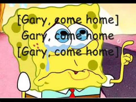 gary come home spongebob squarepants pictures and on