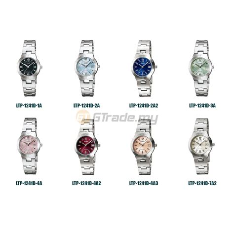 Jam Casio G Shock Cs 2371 List Biru Terbaru casio analog jam casio ori gadis ltp 1241d