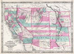 file 1866 johnson map of california colorado arizona