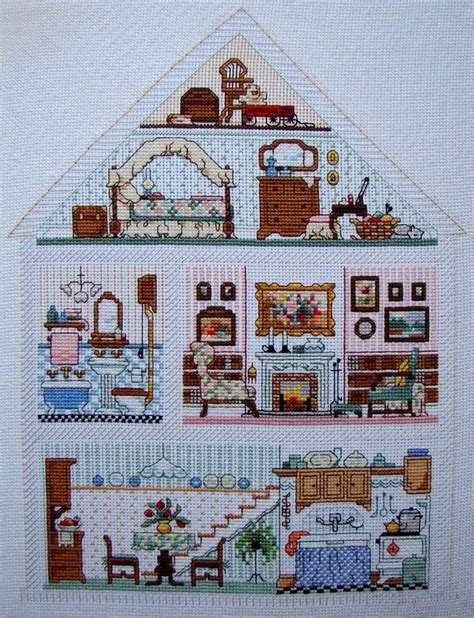 house pattern cross stitch 202 best cross stitch dollhouse images on pinterest