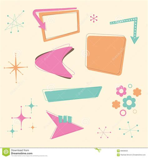 50s design 50s cartoons illustrations vector stock images 8946