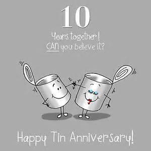 fax potato 10th anniversary greetings card happy tin anniversary ebay