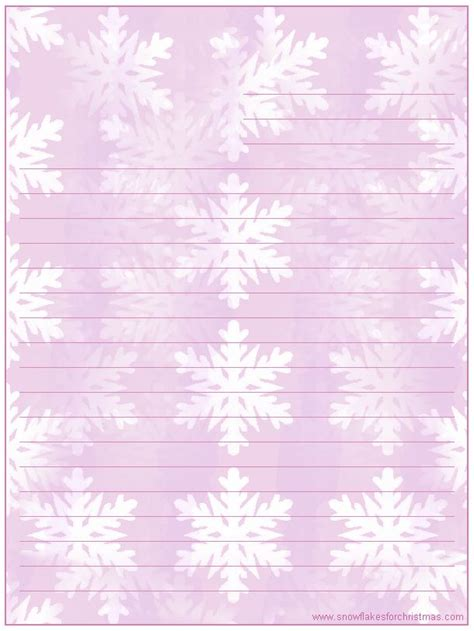 printable snowflakes stationery paper 17 best ideas about free printable stationery on pinterest