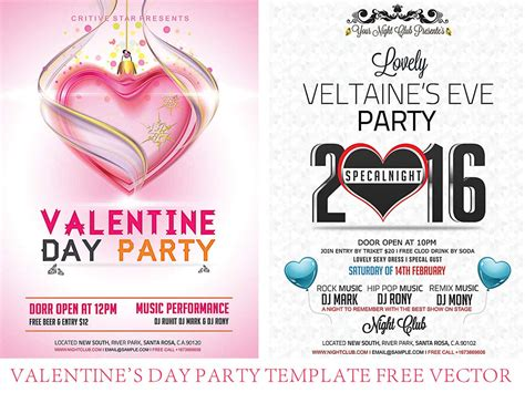 valentine s day party flyer templates 2016 free download