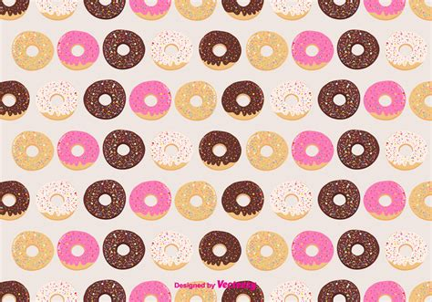 donut background donuts vector pattern background free vector