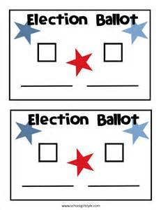 Sample voting ballot template pictures to pin on pinterest