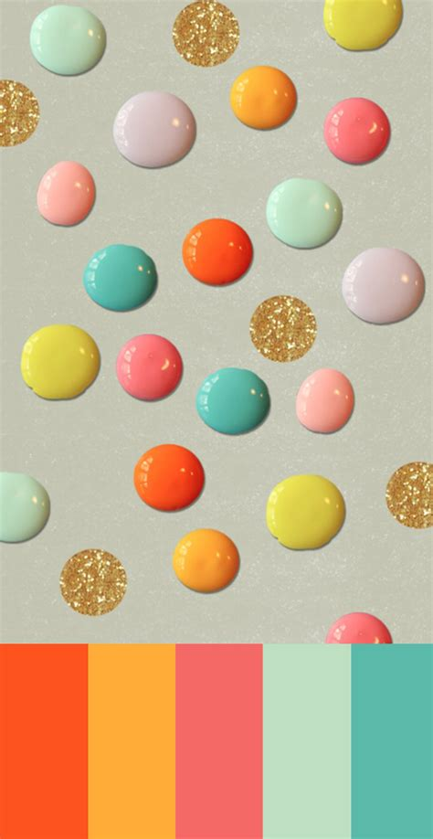 spring color schemes color studies thirty eight nail polish polka dots