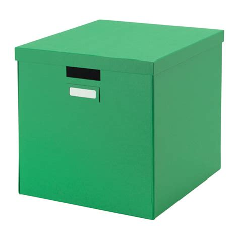ikea house in a box tjena box with lid green ikea