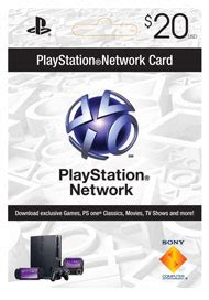 Psn Gift Card Gamestop - boxshot 20 playstation network card by sony computer entertainment