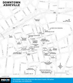 map of downtown asheville carolina