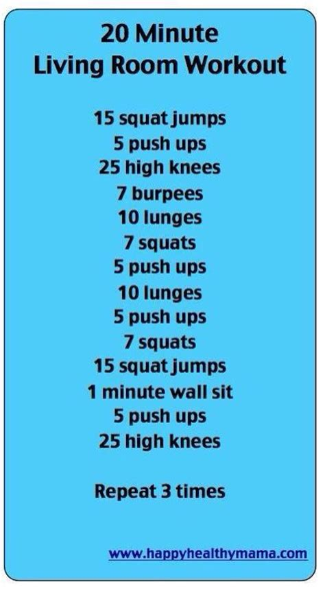 20 Minute Living Room Workout Fitness Friends 20 Minute Living Room Workout