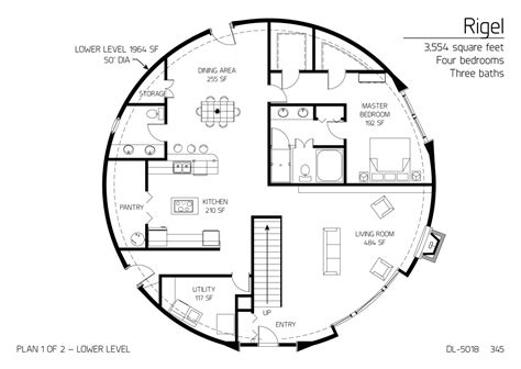 monolithic dome homes floor plans floor plan dl 5018 monolithic dome institute