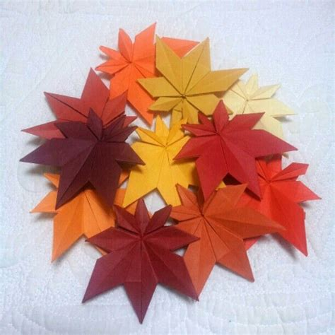 Origami Flower Leaves - origami maple leaves origami origami