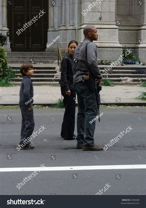 Will Smith And Braga On Set Of I Am Legend October 15 2006 by Will Smith And Braga On The Set Of I Am Legend In