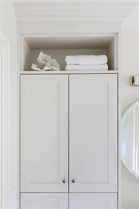 built in bathroom linen cabinets built in linen cabinet design ideas