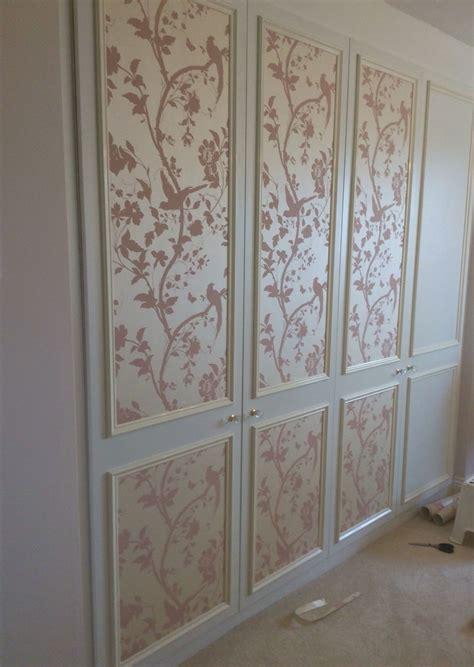 Wallpaper Closet Doors Wallpaper Garden In Chalk Pink Put On The Fitted Wardrobe Doors Opposite