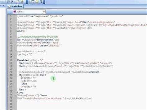 qtp tutorial website qtp elearn dynamic web object descriptive programming qtp