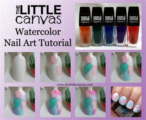 watercolor manicure tutorial sally hansen palm beach jelly watercolor tutorial