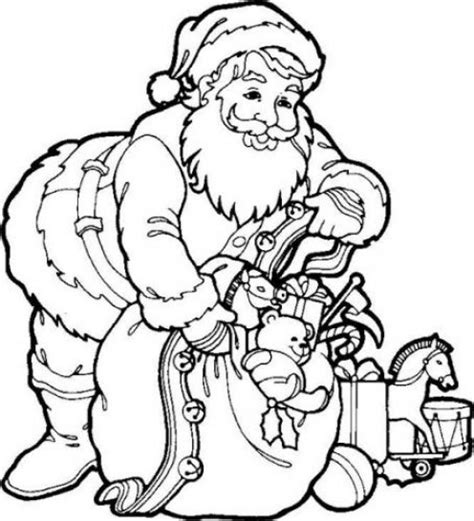 santa claus coloring pages for christmas 2011 kids